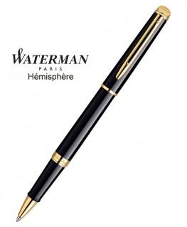 Stylo Roller Waterman Hémisphère Laque Noire GT réf S0920650
