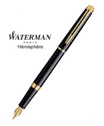 Stylo Plume Waterman Hémisphère Laque Noire GT réf S0920630