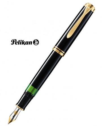 Stylo Plume Pelikan M400 Résine Noire Attributs Plaqué Or Réf_985499
