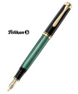 Stylo Plume Pelikan M400 Résine Noire et Vert Attributs Plaqué Or