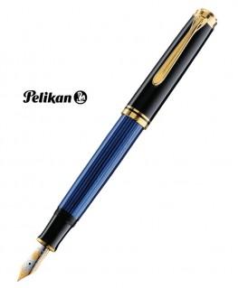 Stylo Plume Pelikan M400 Résine Noire - Bleu et Plaqué Or Réf_985978