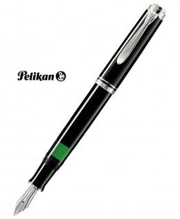 Stylos Plume Pelikan M405 Noir et Argent
