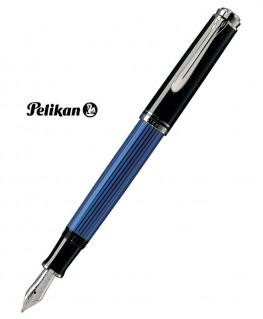 Stylo Plume Pelikan M405 Noir bleu et Argent Réf_979540
