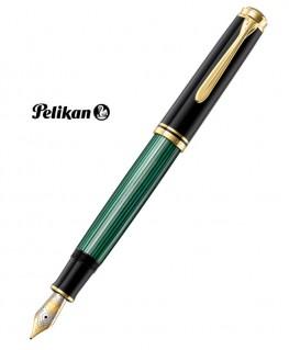 Stylo Plume Pelikan Souverain M800 Noir - Vert et Plaqué Or Réf_986539