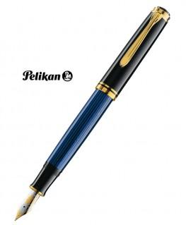 Stylo Plume Pelikan Souverain M800 Noir - Bleu et Plaqué Or Réf_986737