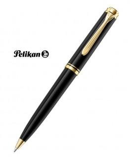 Stylo Bille Pelikan Souverain K800 Noir et Plaqué Or