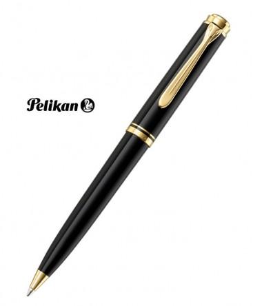 Stylo Bille Pelikan Souverain K800 Noir et Plaqué Or Réf_987826