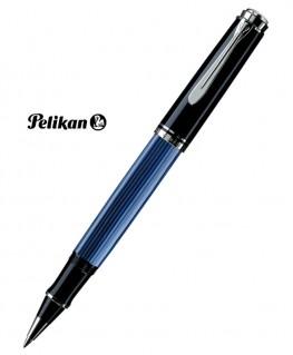 Stylo Roller Pelikan Souverain R805 Noir Bleu Argent
