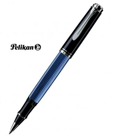 SStylo Roller Pelikan Souverain R805 Noir Bleu Argent Réf_933663