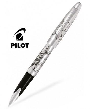Stylo Plume Pilot Carpe Silver Argent Massif Réf_FKN-70SR-KOIM