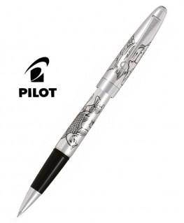 Stylo Roller Pilot Carpe Silver Argent Massif Réf_BLKN-50S-KOIF