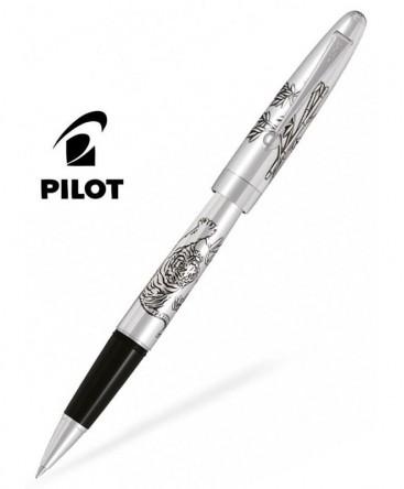Stylo Roller Pilot Tigre Silver Argent Massif Réf_BLKN-50S-TR