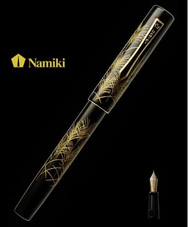 Stylo Plume Namiki Yukari Chinkin Suzuki Herbes d'Argent réf FNVC-10M-SU