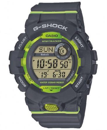 Montre Casio G-Shock Bluetooth Gris et Vert GBD-800-8ER