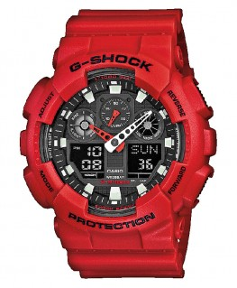 Montre Casio G-Shock Rouge GA-100B-4AER