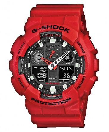 Montre Casio G-Shock Rouge GA-100B-4AER