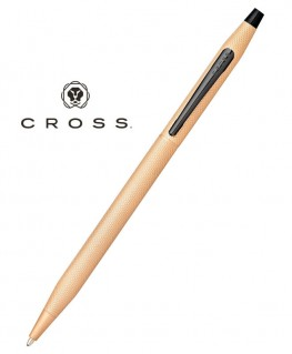 Stylo Bille Cross Century Classic PVD Or Rose Brossé