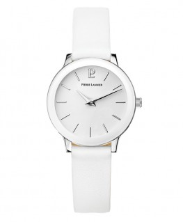 Montre Pierre Lannier Collection Pure Cuir Blanc