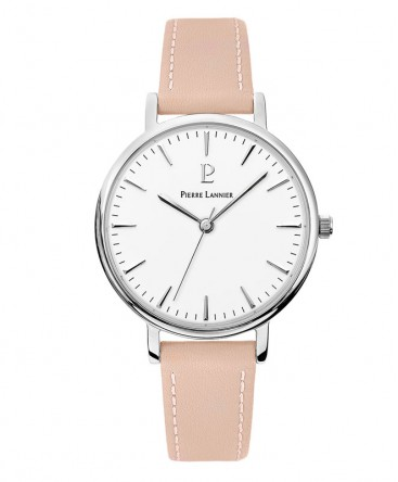 Montre Pierre Lannier Week-End Symphony Cuir Rose 089J615