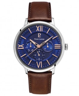 Montre Pierre Lannier Collection Beaucour Cuir Brun