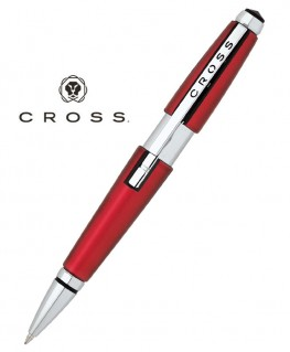 Stylo Roller Cross Edge Rouge Satiné