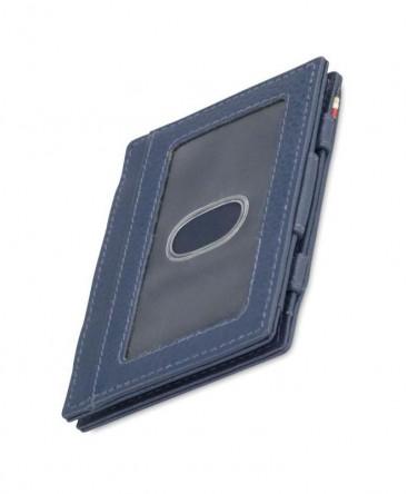 Portefeuille Garzini Essenziale Magic ID Window Nappa Navy Blue réf MW-CS2-NBL