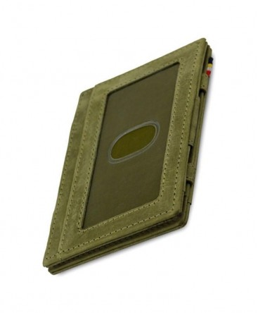 Portefeuille Garzini Essenziale Magic ID Window Vintage Olive Green réf MW-CS2-OGR