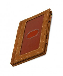 Portefeuille Garzini Essenziale Magic ID Window Vintage Camel Brown