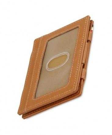 Portefeuille Garzini Essenziale Magic ID Window Nappa Cognac Brown réf MW-CS2-COB