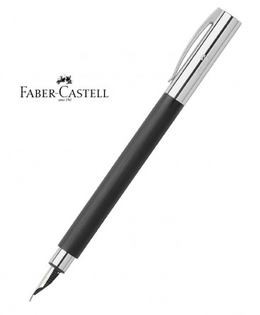 stylo-plume-faber-castell-ambition-resine-noire-brossee-ref_148140