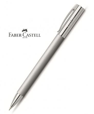 stylo-porte-mine-faber-castell-ambition-metal-brosse-ref_138152