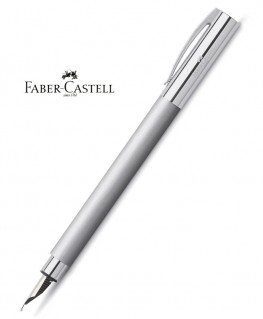 Stylo Plume Faber-Castell Ambition Metal Brossé