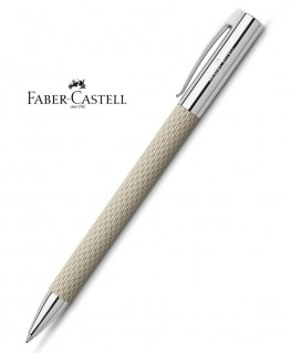 Stylo Bille Faber Castell Ambition OpArt White Sand