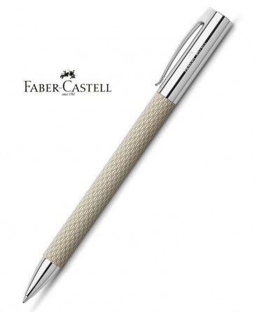 ecrin-Stylo-Bille-Faber-Castell-Ambition-OpArt-White Sand-réf_149616