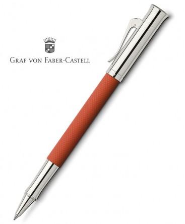 stylo-roller-graf-von-faber-castell-guilloche-orange-ref_146517