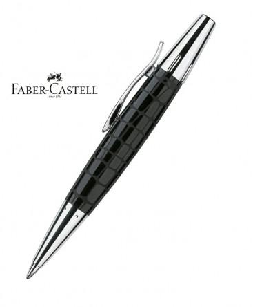 stylo-bille-faber-castell-e-motion-resine-croco-noir-148350