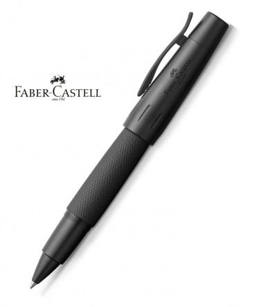stylo-roller-faber-castell-e-motion-aluminium-pure-black-148625