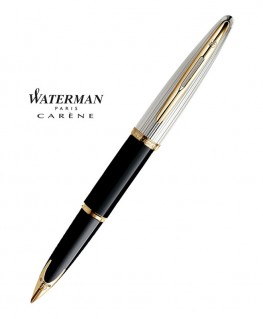 Stylo Plume Waterman Carène Deluxe Laque Noire GT