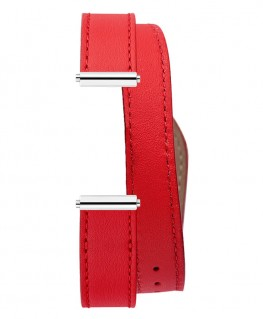Bracelet Montre Double Tour Michel Herbelin Antarès Lagon Rouge Pomodoro