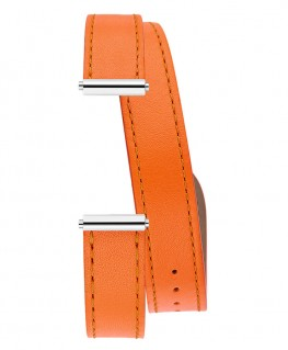 Bracelet Montre Double Tour Michel Herbelin Antarès Orange