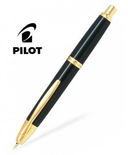 Stylo Plume Pilot Capless Laque Noire Finitions dorées