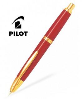 Stylo Plume Pilot Capless Laque Rouge Finitions dorées