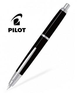 Stylo Plume Pilot Capless Décimo Noir Attributs Rhodiés