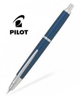 Stylo Plume Pilot Capless Décimo Bleu Foncé Attributs Rhodiés
