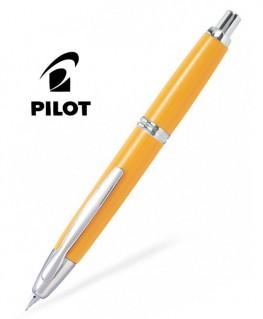 Stylo Plume Pilot Capless Jaune Attributs Rhodiés