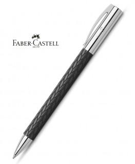 stylo-bille-faber-castell-ambition-3d-feuilles-noir-ref_146065